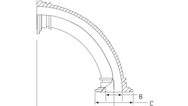 インテグリス PFAフッ素樹脂製サニタリーヘルール エルボ