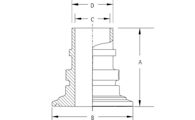インテグリス PFAフッ素樹脂製サニタリーヘルールアダプター