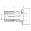インテグリス PFAフッ素樹脂製サニタリーヘルール フレアテックアダプター