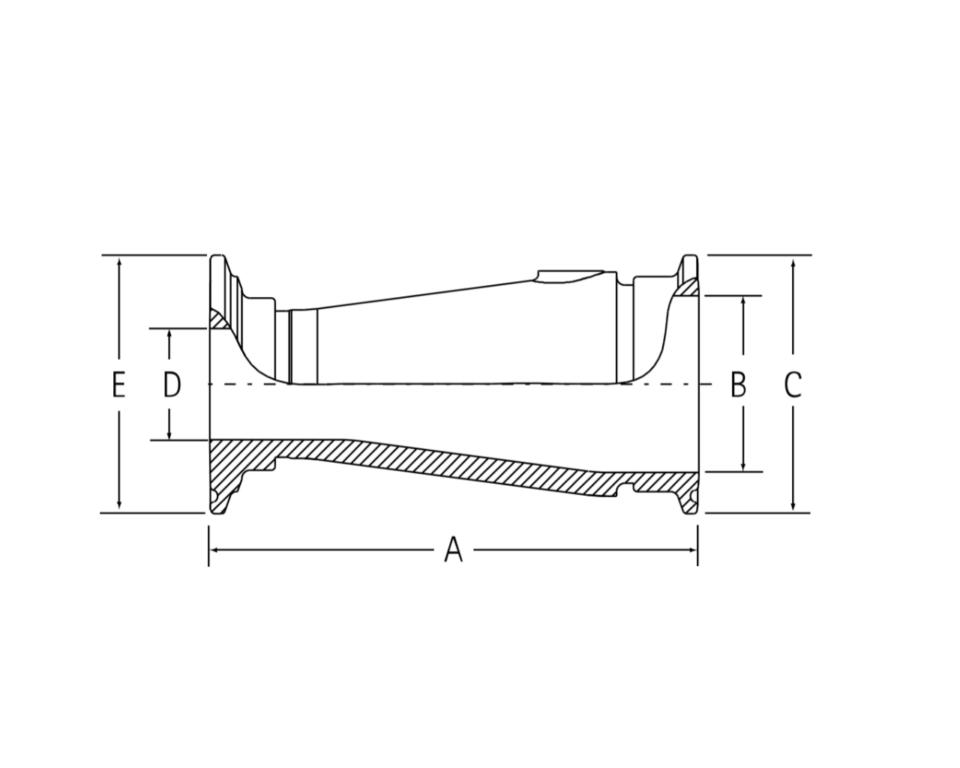 インテグリス PFAフッ素樹脂製サニタリーヘルール 同心レジューサ