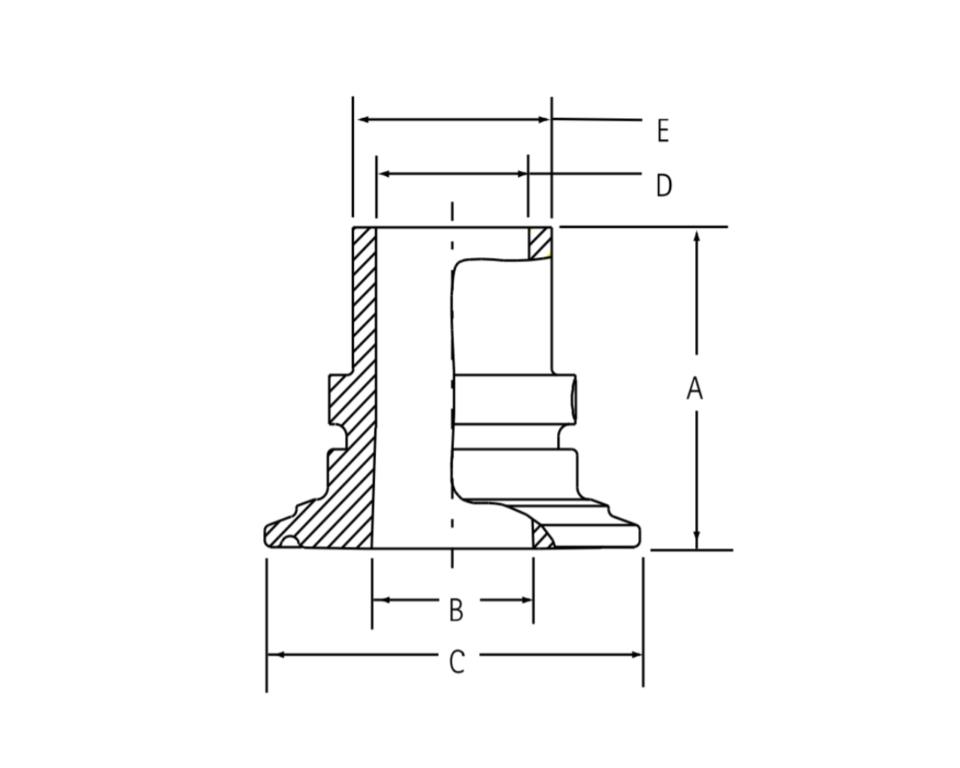 インテグリス PFAフッ素樹脂製サニタリーヘルール ピュアボンドアダプター
