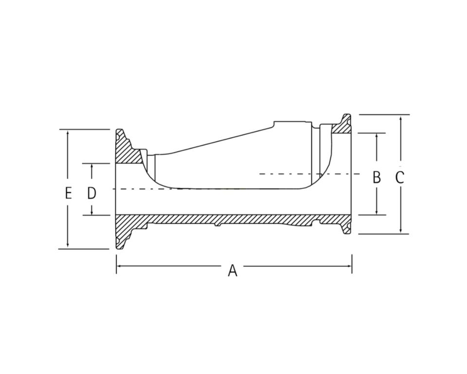 インテグリス PFAフッ素樹脂製サニタリーヘルール 偏心レジューサ